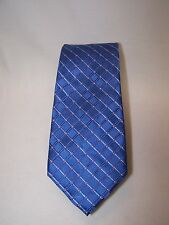 Club Room Neckwear Men's Neck Tie Blue Devoto Grid  NWT $49.50