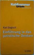 Einführung in das juristische Denken (Taschenbuch)