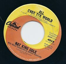 """7"""" NAT KING COLE 45 """"All over the World / Nothing goes up"""" US CAPITOL 4919"""