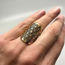Sacred Symbol Flower of Life Ring Size 6 in Brass