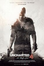 POSTER UNCHARTED 2 3 4 LA FINE DI UN LADRO A THIEF'S END NATHAN DRAKE PS4 PS3 1