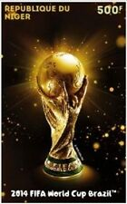 Niger 2014 FIFA World Cup Football Brazil Largest Stamp of World Mint! NIG_FIF u