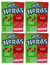 4 x Formally Wonka Wild About What A Melon And So Very Cherry Nerds 46.7g Sweets