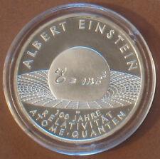 GEDENKMÜNZEN 2005: 10 EURO SILBER-GEDENKMÜNZE  ALBERT EINSTEIN