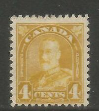 Canada 1930-31 King George V 4c yellow bister (168) MH