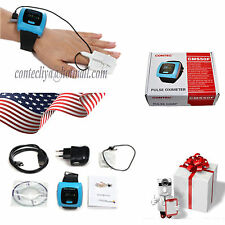 CE FDA,NEW CMS50F Wrist Pulse Oximeter,Spo2 Monitor Daily And Overnight Sleep,US