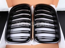 NEW MATT BLACK TWIN SLAT KIDNEY GRILLS BMW F25 LCI X3 SERIES M LOOK X S Drive