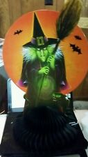 FREE SHIP! 1BEISTLE HALLOWEEN��VINTAGE STYLE WICKED WITCH-BLACK CAT��CENTERPIECE
