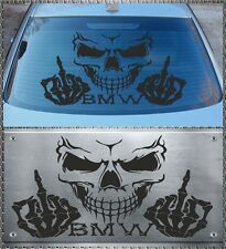 SKULL BMW Power Adesivo Sticker TESCHIO DISCHI POSTERIORE 58x34cm 320 330