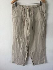Denim Co 100% Linen Trousers Size 12 Light Stone Colour  R8821