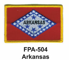 """ARKANSAS State Flag Embroidered Patch2-1/2'' X 3-1/2"""""""