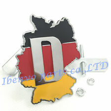 Germany Chrome Map Front Hood Grille Metal Emblem Badge W/ Mount For All Grilles