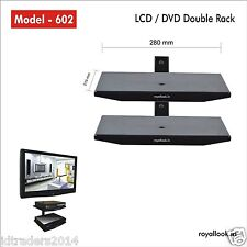 Royal Look Set Top Box / DVD Double Rack - Heavy Duty Wall Mount Stand