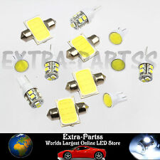 Xenon White 12PCS LED Lights Interior Package T10 & 31mm Map Dome License Plate