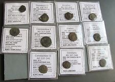 Individual Cleaned Roman coin from Late Roman Empire between 300-400 AD