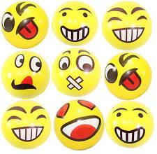 9 Big Happy Face Hand Wrist Finger Exercise Stress Relief Therapy Squeeze Ball