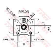 Radbremszylinder TRW BWD311
