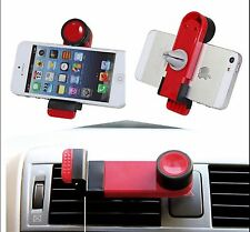 Rosso Universal In Auto Vent Mount supporto per iPhone 6S 6S Plus 5S 5C iPod