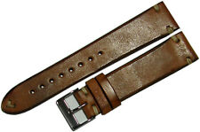 Uhrenarmband Uhrenband watch strap vintage horse leather brown 24mm creme braun