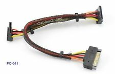 "15"" SATA 15-Pin Male to 2 SATA 15-Pin Female, Splitter"