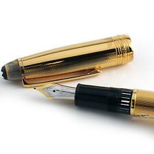 Montblanc Meisterstuck Solitaire 146V Barley Vermeil Le Grand Fountain Pen