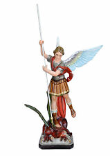 Saint Michael fiberglass statue cm. 120 with spear - glass eyes