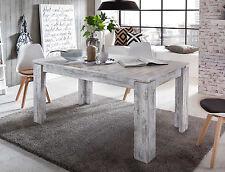 Esszimmertisch Esstisch weiß Pinie Shabby Holztisch ausziehbar 160 200 cm River