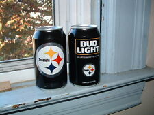 PITTSBURGH STEELERS 2016 BUD LIGHT BEER CAN bottom opened