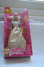 Barbie Best Wishes Christmas 2011 Holiday Doll X4869 RARE Gold Dress BNIB
