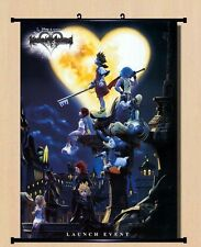 Home Decor Japanese Anime Wall poster Scroll Kingdom Hearts II Art hot 60x80