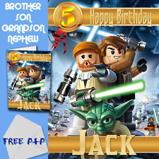 STAR WARS LEGO   Personalised Birthday Card!   FREE 1st Class Shipping!
