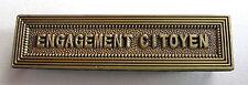 Agrafe barrette ENGAGEMENT CITOYEN pour ruban médaille de la sécurité intérieure