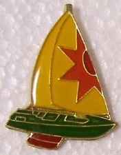 Hat Lapel Pin sports Sail Boat yellow NEW