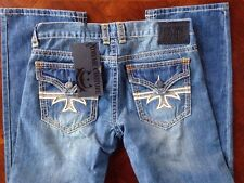 "Xtreme Couture Jeans by Affliction Relaxed Straight sz 32X32 ""Pedro"" Light NWT"