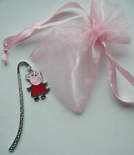 PEPPA PIG MINI BOOKMARK IN ORGANZA GIFT BAG BIRTHDAY PARTY BAG FILLER PRIZE