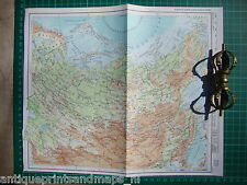 Old map Soviet Union USSR Asien Russia 1975 karte Sowjetunion Asien