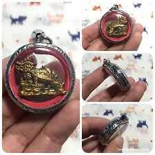 Beautiful Dragon Turtle Tao On Cloud Lp Liew Amulet Luck Rich Healthy Protect