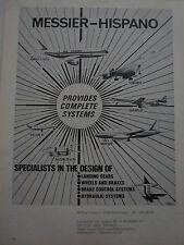6/1973 PUB MESSIER HISPANO LANDING GEARS BRAKE WHEELS CONCORDE AIRBUS FALCON AD