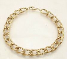 Triple Twisted Oval Link Bracelet Lobster Clasp REAL 14K Yellow Gold ALL SIZES