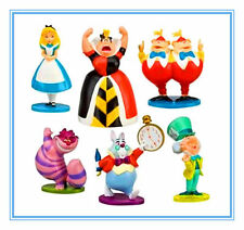 6 Disney Alice In Wonderland Action Figures Figurines Kid Toy Cake Topper Decor