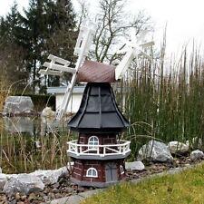 GARTENWINDMÜHLE OLIVIA 80 cm schwarz Garten Deko Mühle Windmühlen Dekoration