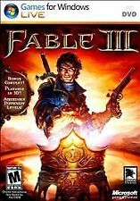 Fable III PC DVD Games for Windows Microsoft New Role Playing. Free shipping