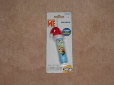 NEW, DESPICABLE ME MINION LIP BALM WITH CHRISTMAS HAT