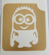 GT26 Body Art temporary Glitter Tattoo Stencil - Minion Minions