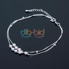 Silver Chain braccialetto spilla cavigliera Piede Scalzo Sandalo Beach Donna OC