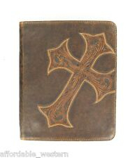 iPad 2 CASE ~ NOCONA Western Leather CROSS ~ Tablet Computer - Magnetic Closure