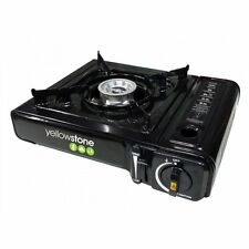 SINGLE GAS COOKER PORTABLE SINGLE BURNER GAS STOVE CAMPING PICNIC GARDEN BLACK