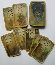 c.1895 German Lenormand Fortune Telling Cards old VERY RARE Schneider & Co 36/36