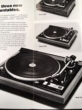 "Dual 1245 Turntable ""Original"" Owners Manual plus brochure on 1237 1241 & 1245"