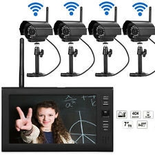 2.4GHz 4CH Wireless Security IR Camera System Outdoor DVR CCTV Surveillance Kit